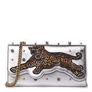 Gucci Embellished Broadway Bengal Tiger Clutch